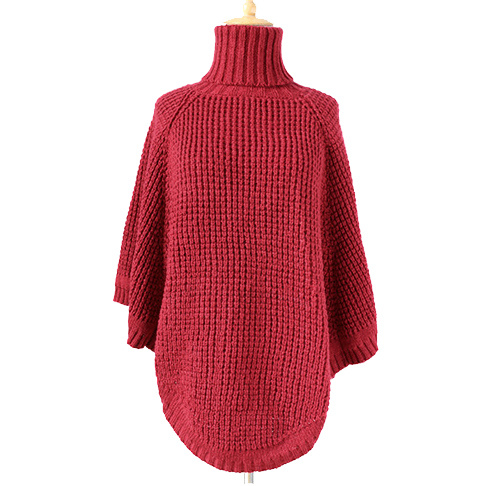 Womens Neck Warmer Scarf Sweater Cardigan Wraps Winter Knitted Shawls Poncho (SP607)