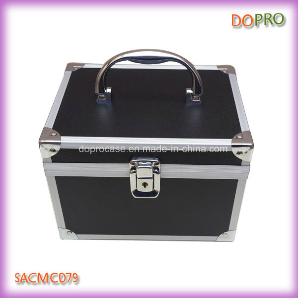 Cute Cosmetic Organizer Case Black PVC Makeup Boxes (SACMC079)