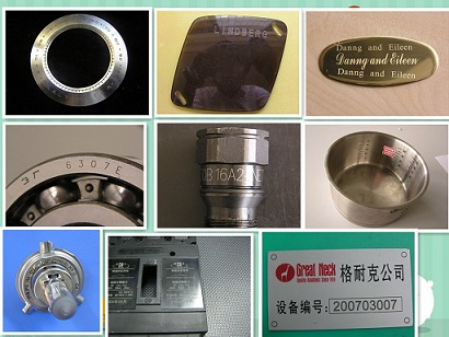 Computer Control Optical Fiber Laser Marking Machine Printer for Metal Systems