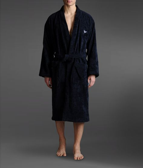 Men's 100% Cotton Terry Cloth Light Weight Woven Bathrobe Robe