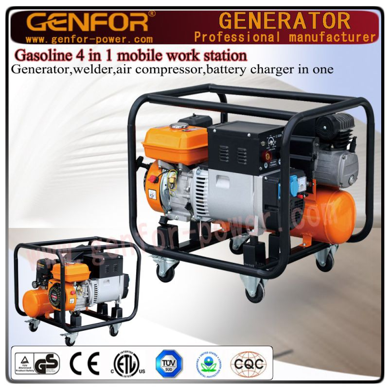 GF10-Gawa Gasoline 4 in 1 Machine for Battery Charger, Welder, Generator, Air Compressor.