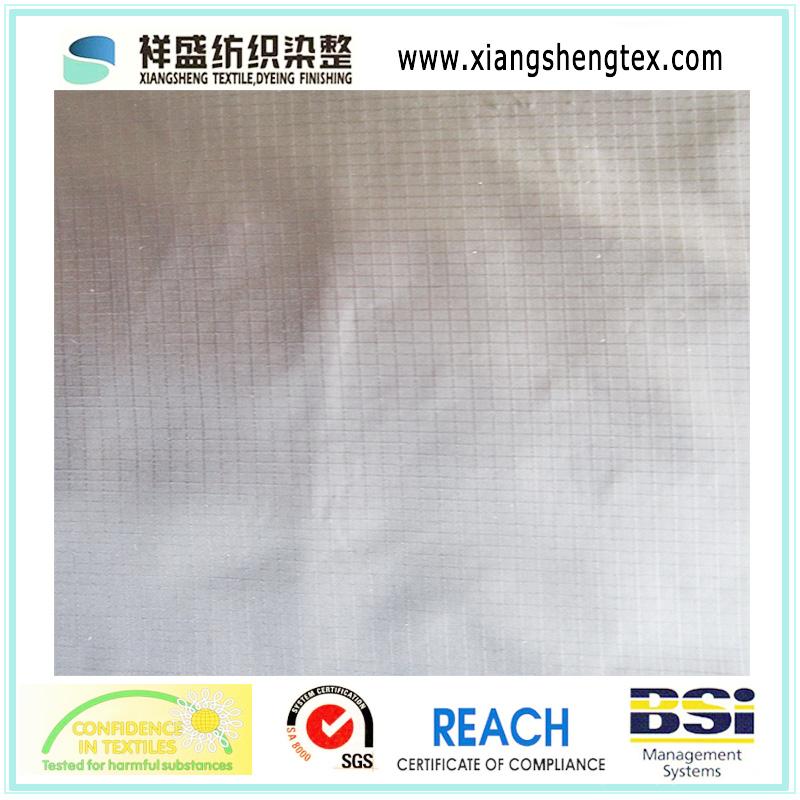 20d/30d Semi-Dull Polyester Taffeta Rib-Stop of 400t