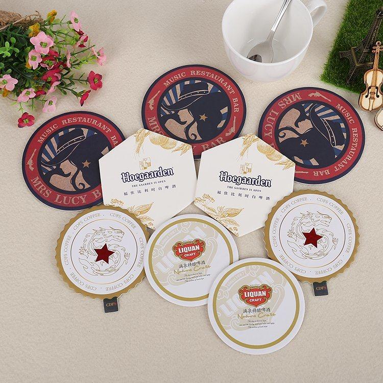 Round Printed Paper Drink Cardboard Coasters (YH-DC003)