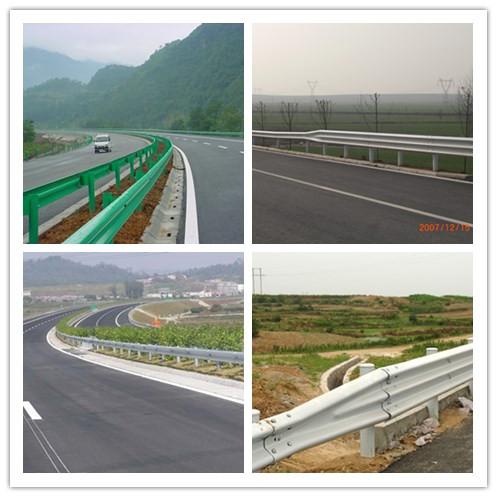 Traffic Guardrail Galvanized Steel Highway Guardrail