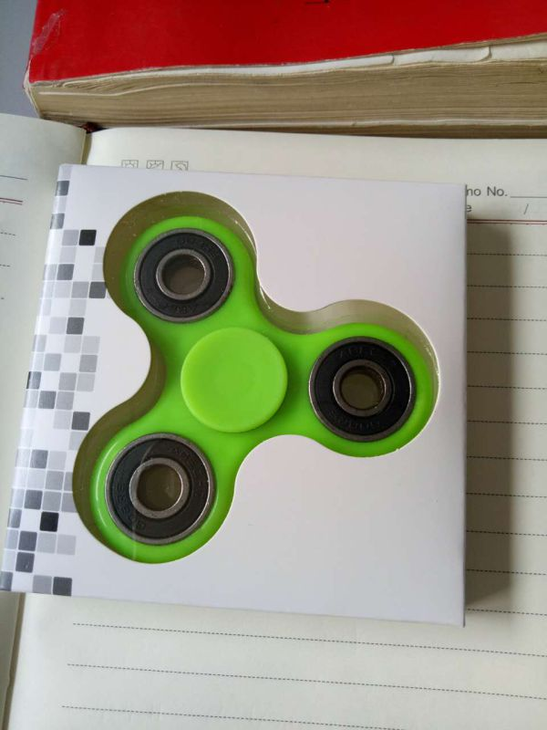 EDC Spinner Tri Bar Fidget Toy with Caps 608 Bearing