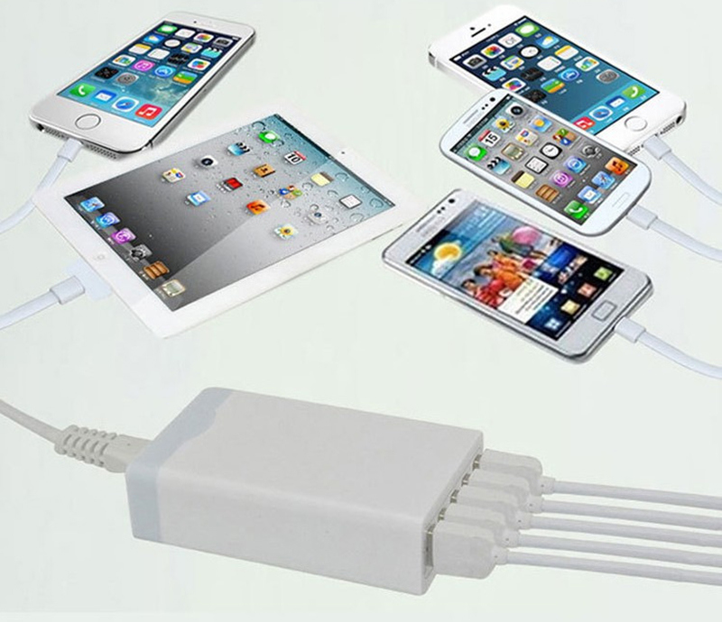 Muti-Function Travel Quick Charger with 5-Port USB