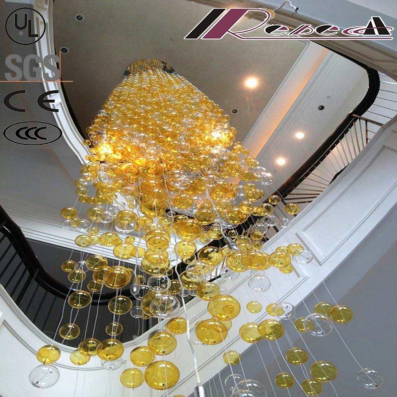 2016 New Design Round Blown Glass Balls Pendant Lamp