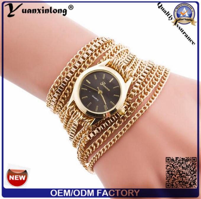 Yxl-419 Vintage Fashion Long Strap Watches, Lady Wrist Watch with Weave Wrap Elegance Ladies Quartz Bracelet Watch
