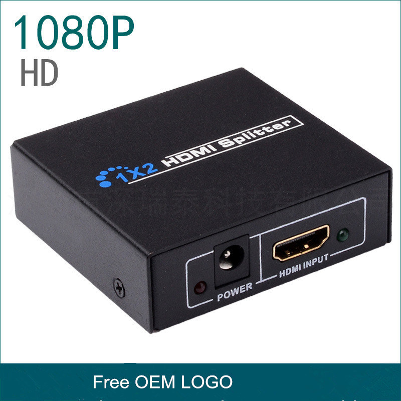 1 HDMI to 2 HDMI Splitter 1X2 for LCD Display System