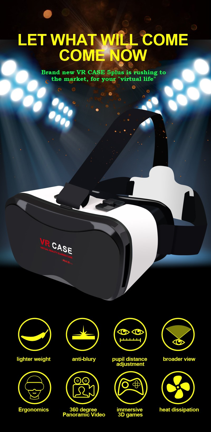 2016 Newest Best Quality Radiation Proof Vr Box, Virtual Reality Headset, 3D Glass, 3D Headset for 3D Movies, 3D Games