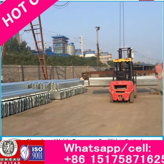 Flexible Metallic Highway Guardrail, Q235 Galvanized Steel Metal Beam Road Crash Barrier, Highway Traffic Barrier
