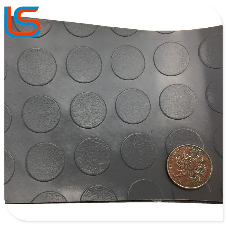Non Woven Backing PVC Flooring Roll Non-Slip Mat Leather with Grade a Stock