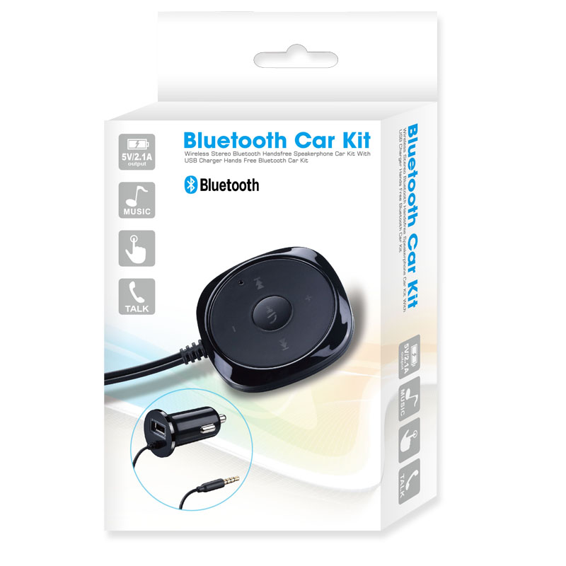 Hands Free Bluetooth Car Kit with Car Charger