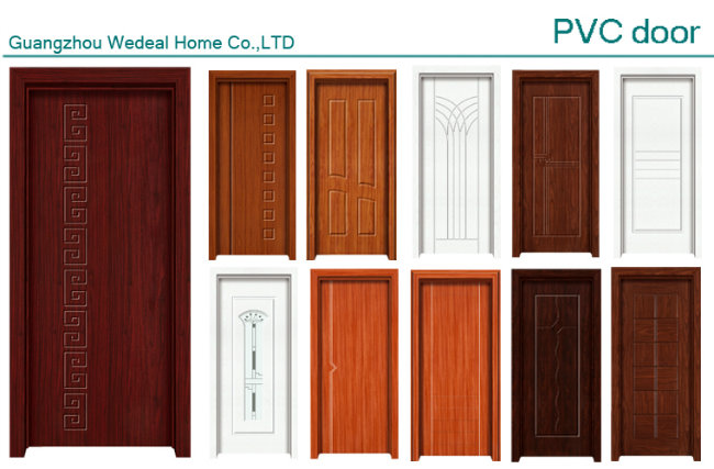 PVC/UPVC MDF Interior Door for Hotel Project with Modern Design