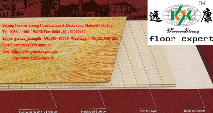 Multi-Layer UV Oiled Natural White Oak Engineered Wood Flooring