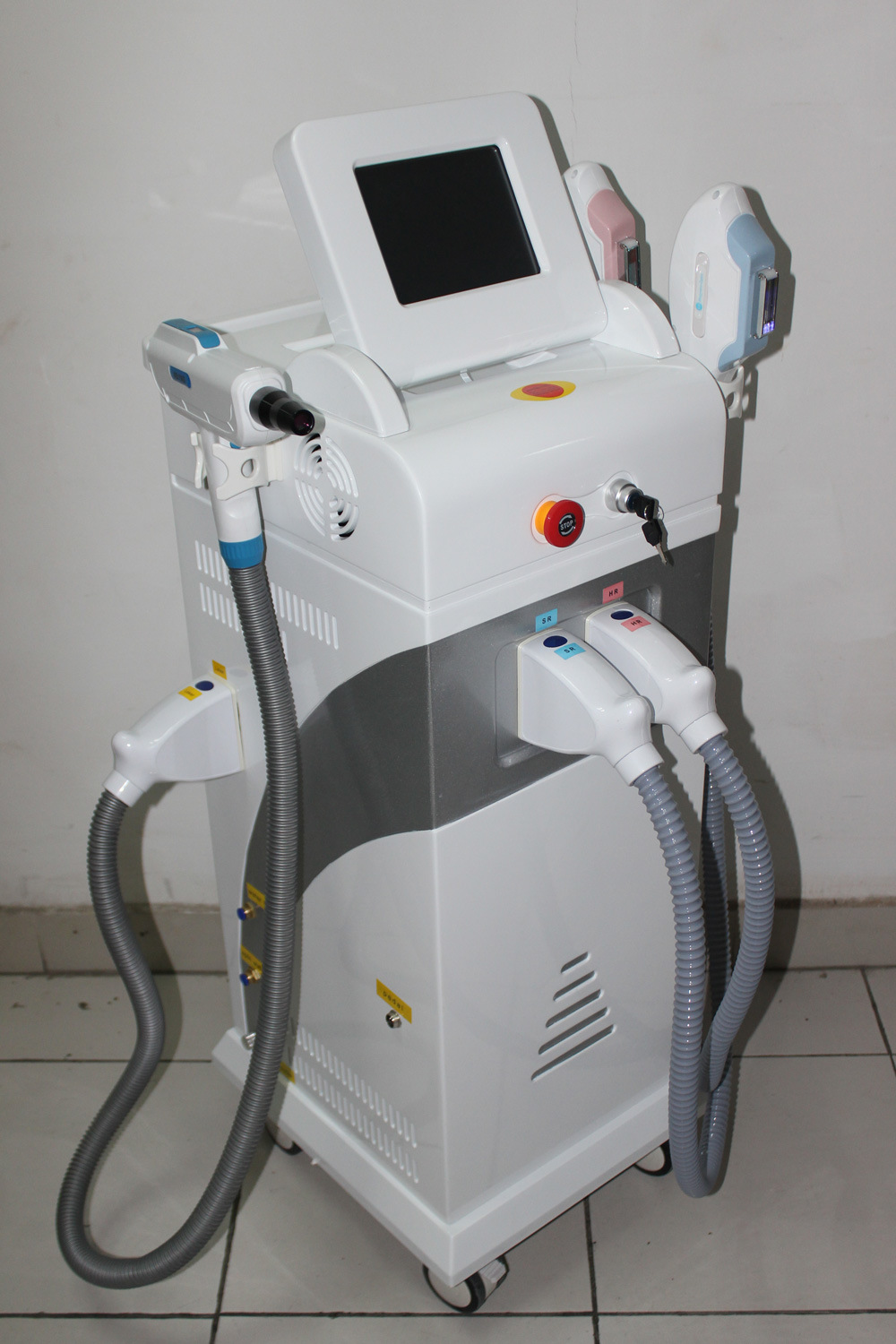 2018 Latest 4 in 1 Sr & Hr & RF & ND YAG Laser, Cheaper Hair Removal Laser Machine Prices (MSLOL02)