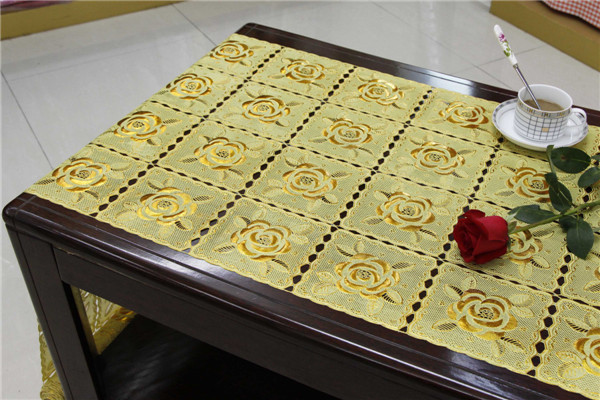 50cm PVC Golden Lace Table Cloth