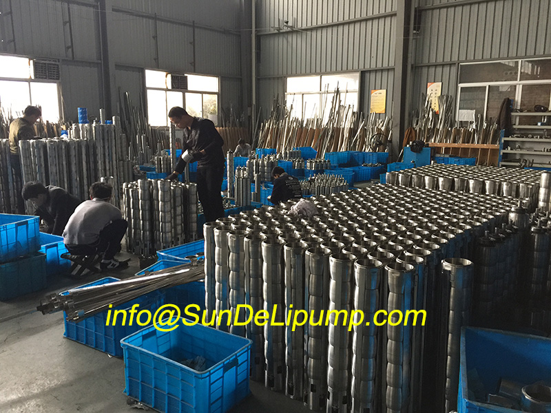(8SP95/1-5.5kw) 6inch/8inch/10inch Stainless Steel Deep Well Electric Submersible Water Pump