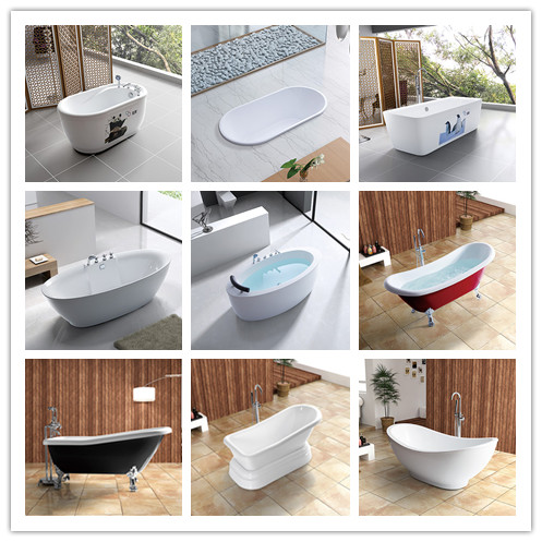 Rectangular Shape Pure Acrylic Freestanding Bathtub (LT-JF-8066)
