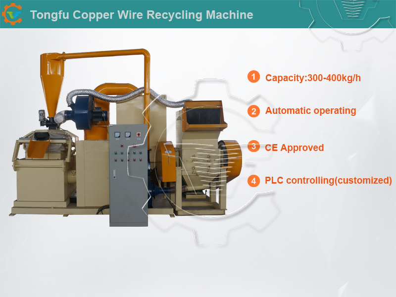 1full Automatic Enameled/Motor/Industrial Copper Wire Granulator