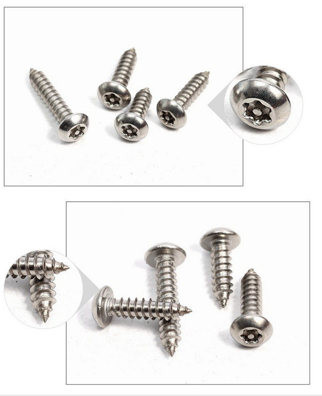 Stainless Steel 316 Anti-Theft Torx Drive Pan Head Self Tapping Wood Screws