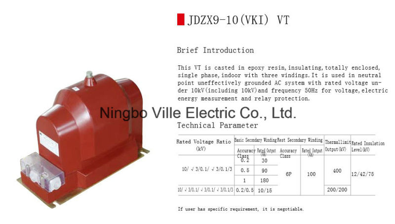 Potential Voltage Transformer (PT VT) Instrument Transformer
