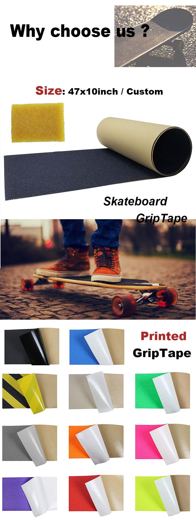 Skateboard Grip Tape Roll/Waterproof Skateboard Grip Tap