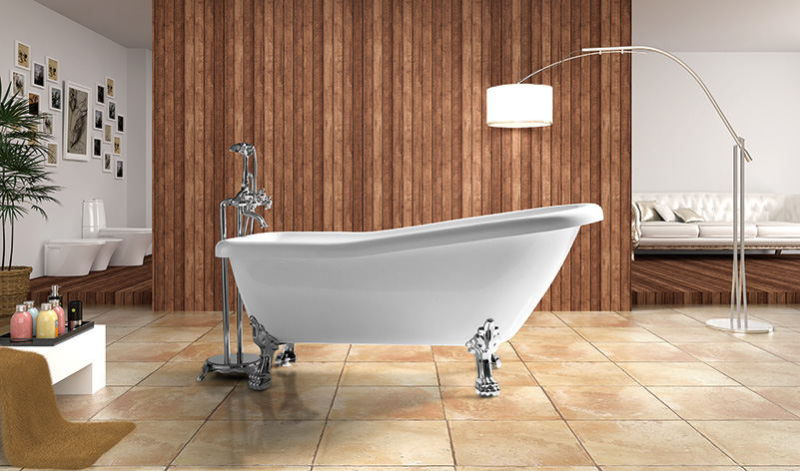 2016 Hot Acrylic Classic Freestanding Tub with Feet (LT-11T)