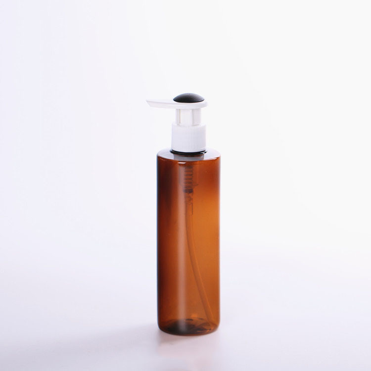 Brown Lotion Plastic Pump Bottle for Cosmetic (NB20003)