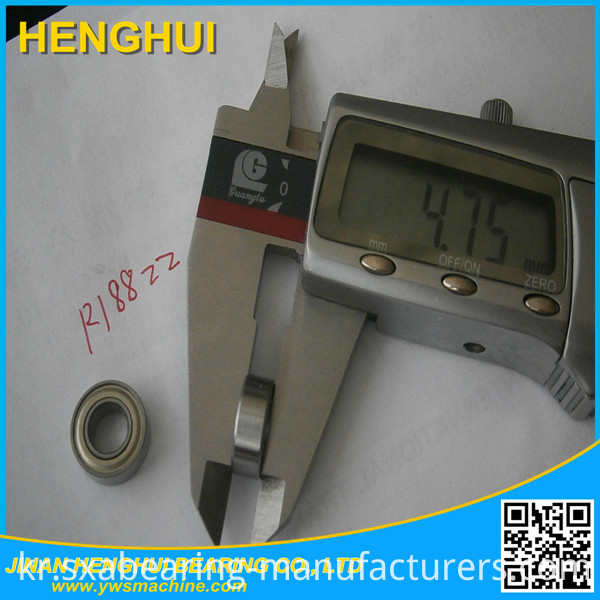 R188 Zz Inch Deep Groove Ball Bearing