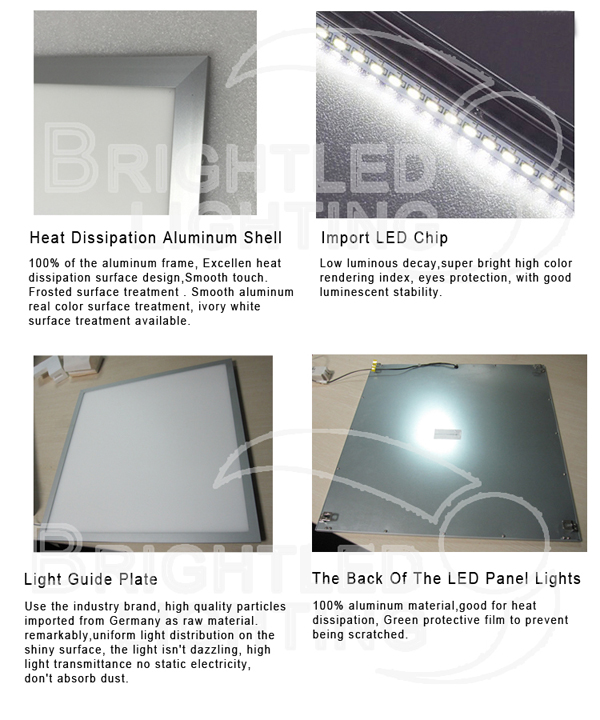 600*600mm Ce/RoHS Ceiling Office LED Panel