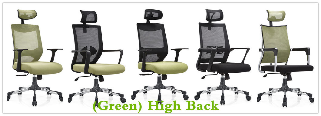 Green High Back Executive Office Visitor Arm Rolling Chair