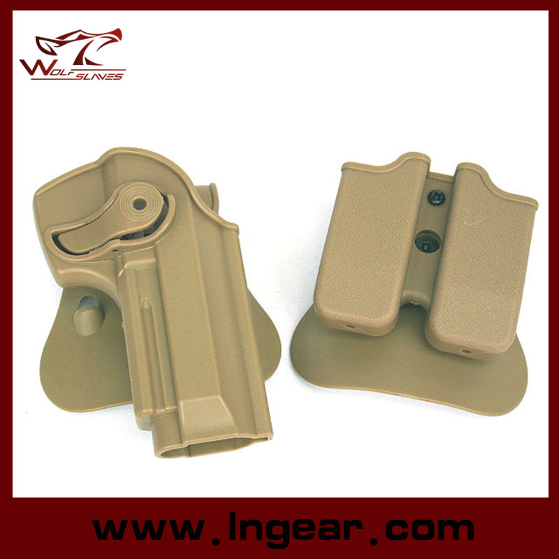 Imi Defense Polymer Retention Roto Holster and Double Magazine Holster Fits Beretta 92/96/M9 All in One Holster
