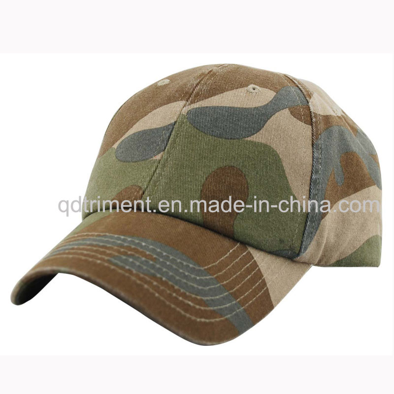Heavy Dirty Washed Embroidery Baseball Sport Cap (TMB0383)