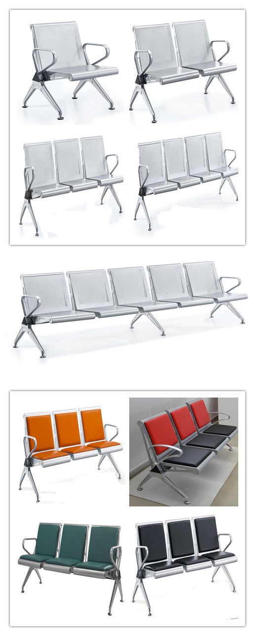 Steel Public Bench Hospital Visitor Airport Chair 3 Seater A63#