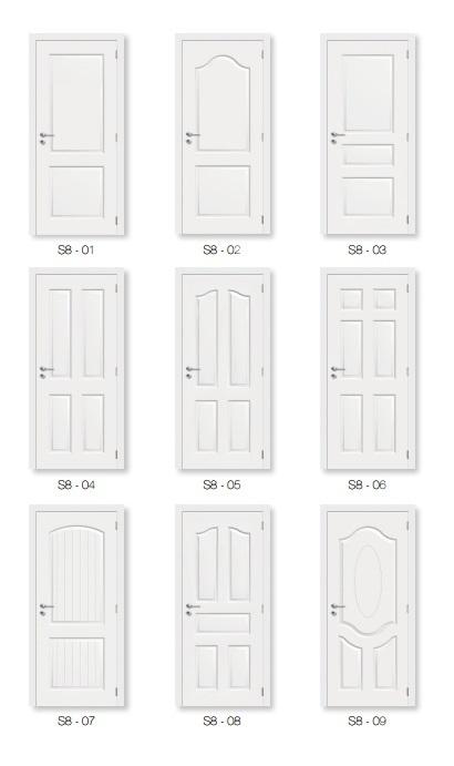 Interior White Primer Door Skin (moulded door)