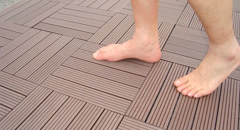 Outdoor WPC DIY Decking Tile for Promotion