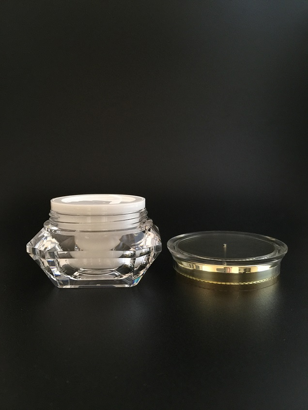 Diamond Shape/UFO Shape Cream Jar for Cosmetic Packaging