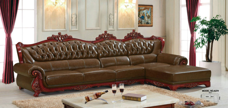 Europe Sofa, Leather Sofa, Wooden Sofa, America Sofa (A37)