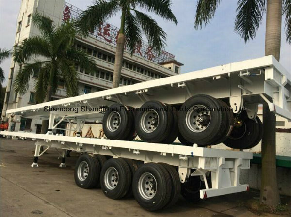 Load 30t Three Axles 20 Feet Container Semi Trailer