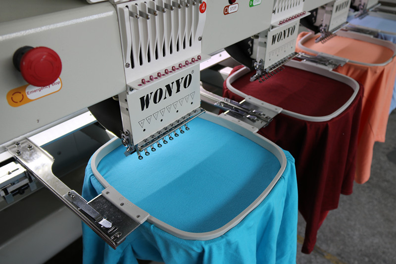 Computer Embroidery Machine 8 Heads T-Shirt Hat Finished Garments Embroidery Wy-908c