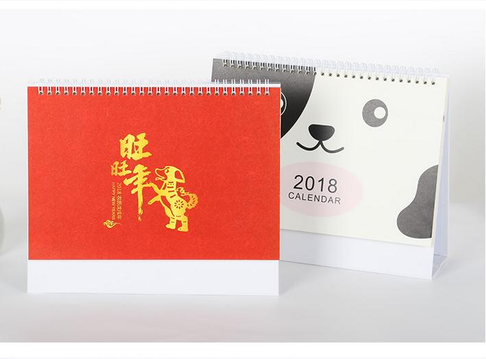 Custom Design 2018 New Year Desk Calendar Printing