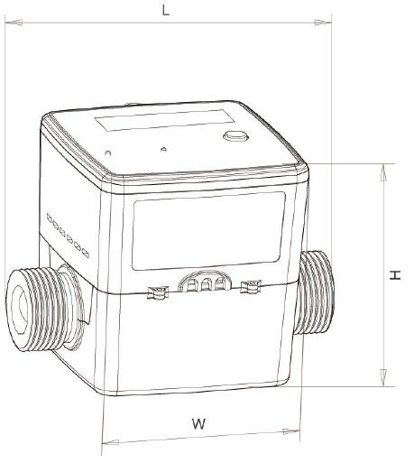 Low Cost Dn20-25-32 M-Bus Remote Heat Meter