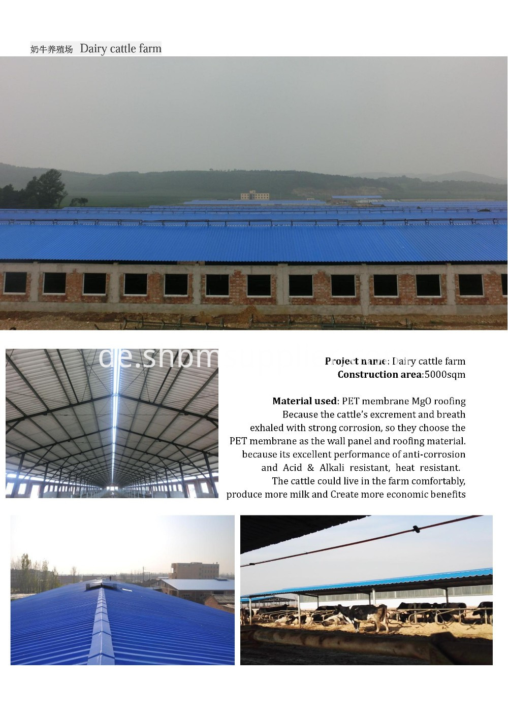 UV Blocking MgO Roofing Sheet