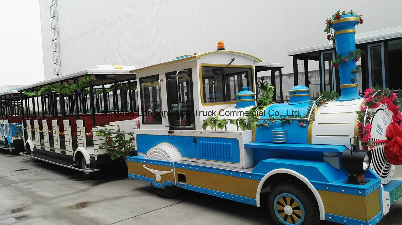 Professional Lxwy Electric Trackless Tourist Train Coaches for Sale
