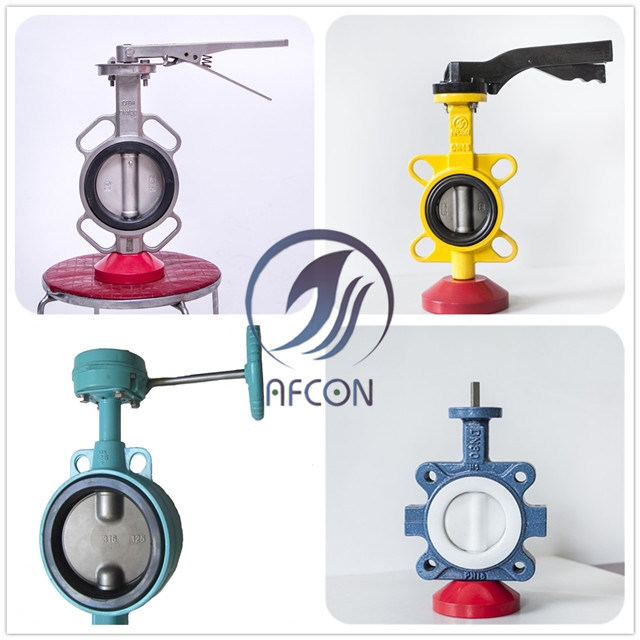 API/ANSI/DIN/JIS Centre Lined Wafer Butterfly Valve with Lever