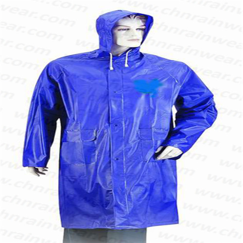 Adult PVC Long Raincoat with Hood
