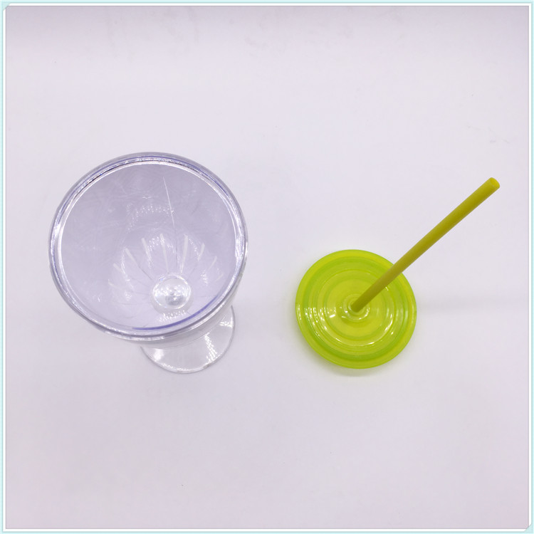 Plastic Thermal Coffee Mugs with Straw (SH-PM36)