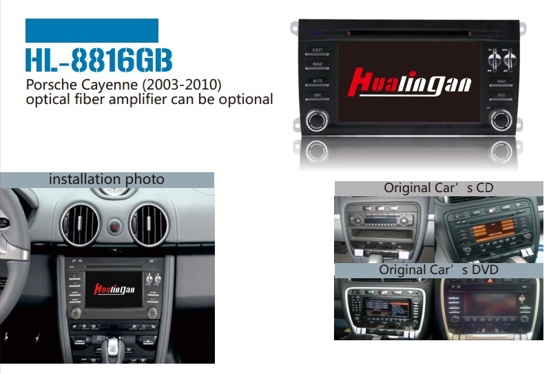 Special Car Audio DVD Player for Porsche Cayenne with GPS Navigation