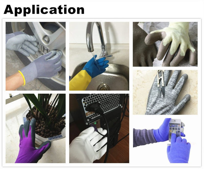 Half Coated Glove, Safety Nitrile Glove